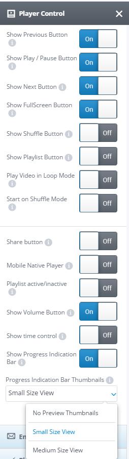 Player control tab