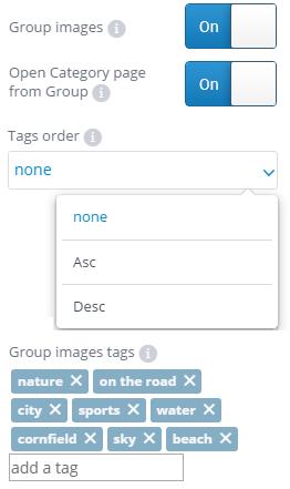 Tags order settings