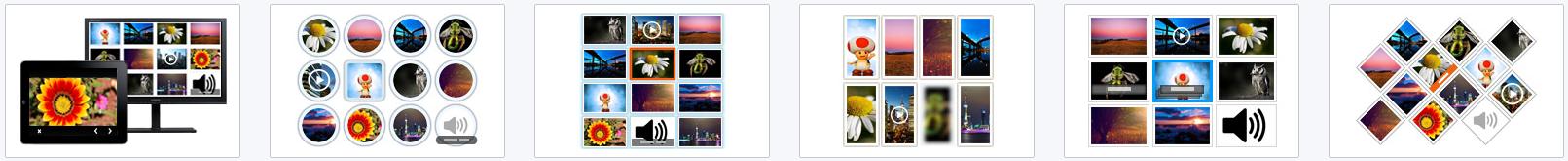 Responsive ImageList templates