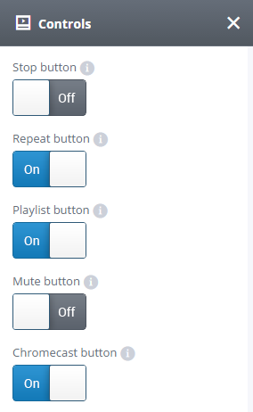 Audio Controls settings tab
