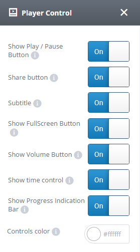 Player control settings tab