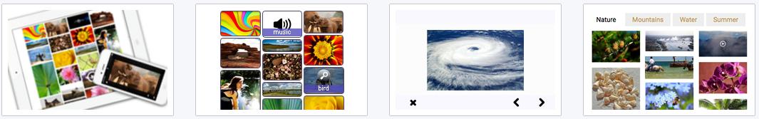 Pinterest like templates